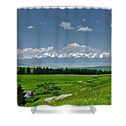 Westerly View Of The Bridger Mountains Shower Curtain