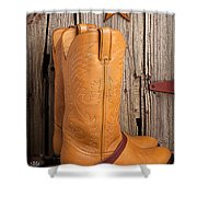 Western Boots And Spurs Shower Curtain