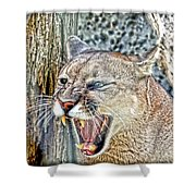 Western Cougar Shower Curtain