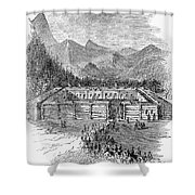 Western Fort, 19th Century Shower Curtain