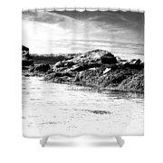 Western Ireland Beach Shower Curtain