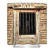 Western Jail House Door Shower Curtain