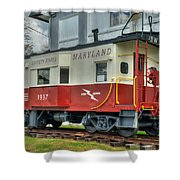 Western Maryland Caboose  Shower Curtain