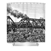 Western Maryland Railroad Shower Curtain