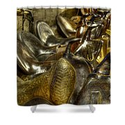 Western Saddles Shower Curtain