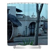 Western Village Taverna Spain Shower Curtain