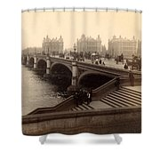 Westminster Bridge - London - C 1887 Shower Curtain