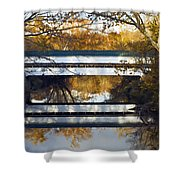 Westport Covered Bridge - D007831a Shower Curtain by Daniel Dempster