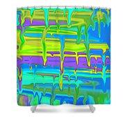 Wet Drippy Paint Shower Curtain