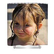 Wet Holly Shower Curtain