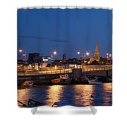 Wexford Harbour At Dusk Shower Curtain