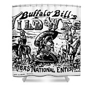 W.f. Cody Poster Shower Curtain