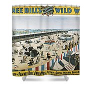 W.f.cody Poster, 1894 Shower Curtain