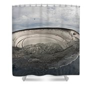 Whale Shark Feeding By Fishing Shower Curtain