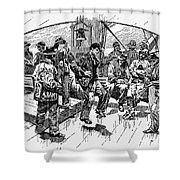 Whalers Gamming Shower Curtain