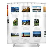What A Wonderful World Calendar 2012 Shower Curtain by Juergen Weiss