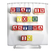 What Is Your Asthma Iq Shower Curtain