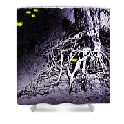 What Lies Along The River Banks Shower Curtain