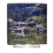 What Lies Before Me Shower Curtain