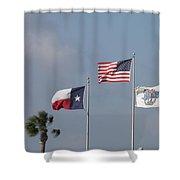 Whataburger Field Flags Shower Curtain