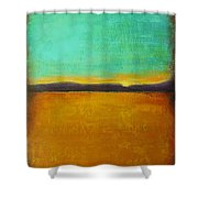 Wheat Field At Sunset Shower Curtain