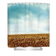 Wheatfield And Cloudy Sky Shower Curtain