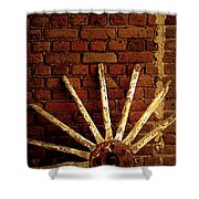 Wheel Against Wall Shower Curtain