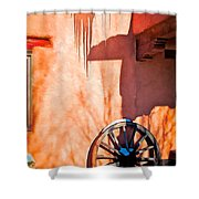 Wheel And Ice Shower Curtain
