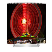 Wheel In The Sky Shower Curtain by Gordon Dean II