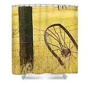 Wheel Looking For A Tractor Shower Curtain by Rich Franco