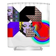 Wheelbarrow Shower Curtain