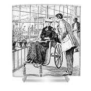 Wheelchair, 1886 Shower Curtain
