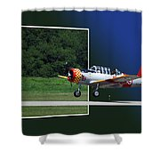 Wheels Down Open Canopy Shower Curtain