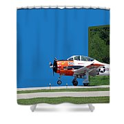 Wheels Up Shower Curtain