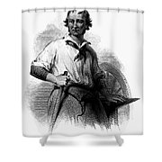 Wheelwright, 19th Century Shower Curtain