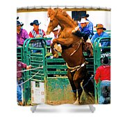 When Cowboys Take Notice Shower Curtain