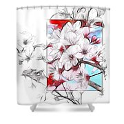 When The Almond Trees Are In Blossom  Shower Curtain