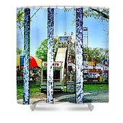 When The Carnivale Came To Town Shower Curtain