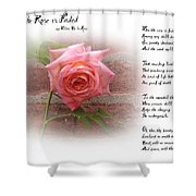When The Rose Is Faded Shower Curtain