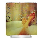 Where I Relax Shower Curtain