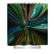 Where Tech Meets Digital Abstract Fx  Shower Curtain