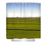 Where The Grass Is Growing Shower Curtain