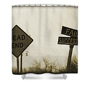 Which Road To Take Shower Curtain