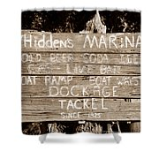 Whiddens Marina 1925 Shower Curtain