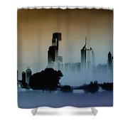 While The City Sleeps Shower Curtain by Bill Cannon