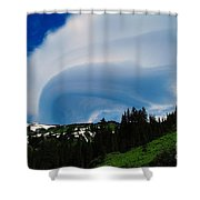 Whirling Clouds  Shower Curtain
