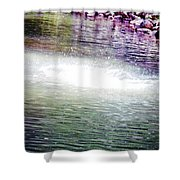 Whirlpool Of Water Suds Shower Curtain