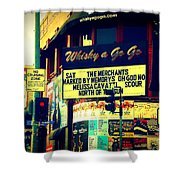 Whisky A Go Go Bar On Sunset Boulevard Shower Curtain