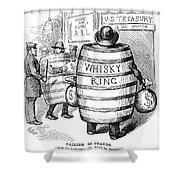 Whisky Ring Cartoon, 1875 Shower Curtain