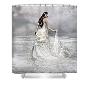 Whispered Waves Shower Curtain